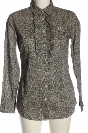 Fred Perry Long Sleeve Shirt allover print casual look