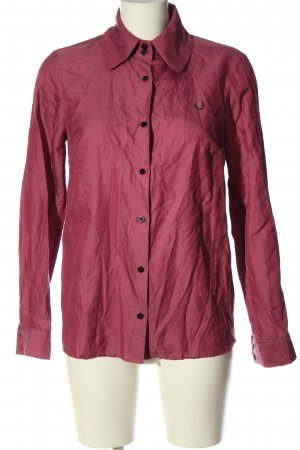 Fred Perry Long Sleeve Shirt red casual look