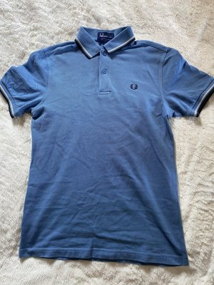 Fred Perry Polo Shirt white-blue