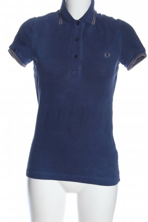 Fred Perry Polo Shirt blue-light grey casual look