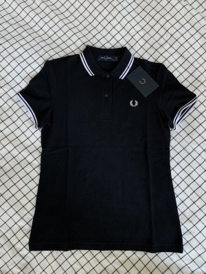 Fred Perry Polotop zwart-wit