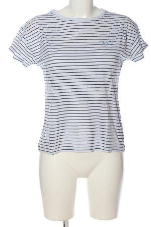 Fred Perry Ringelshirt weiß-blau Streifenmuster Casual-Look