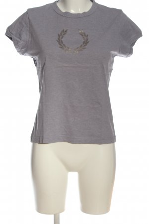 Fred Perry T-Shirt hellgrau meliert Casual-Look
