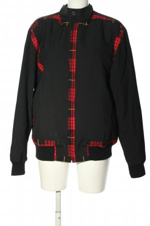 Fred Perry Between-Seasons Jacket black-red check pattern casual look