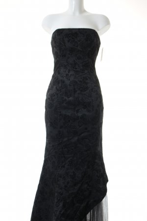 Fred Sun Abendkleid schwarz florales Muster Elegant