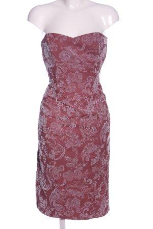 Fred Sun Midikleid pink-weiß abstraktes Muster Elegant