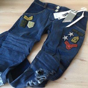 Freddy Jeans WR.UP Neu Gr. XS Blau Denim Army Patches