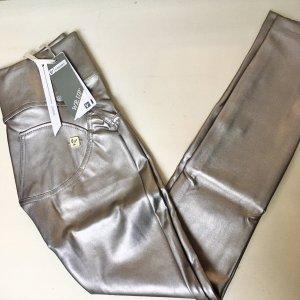 Freddy Pantalone in pelle argento