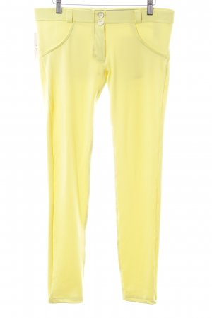 Freddy Jeggings giallo pallido stile casual