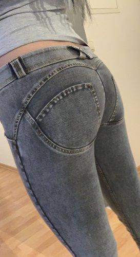 Freddy Lage taille broek grijs
