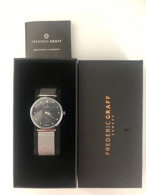 Frederic T Horloge met metalen riempje zwart