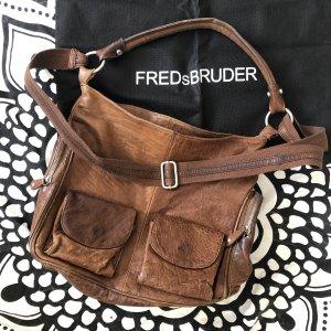 Freds Bruder Tasche Leder braun Ledertasche Umhängetasche