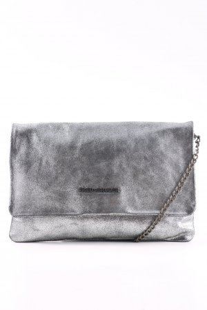 Fredsbruder Clutch silberfarben Casual-Look