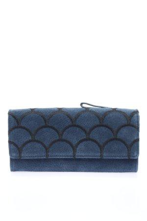 Fredsbruder Geldbörse blau-schwarz abstraktes Muster Casual-Look