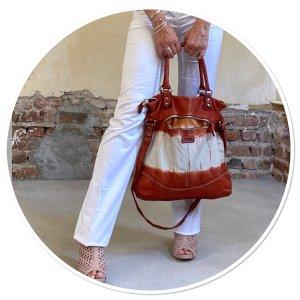 FredsBruder Leder Tasche in Batik Färbung neuwertig NP239€