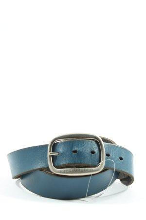 Fredsbruder Ledergürtel blau-silberfarben Casual-Look