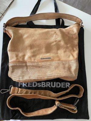 Fredsbruder Borsa a spalla marrone chiaro