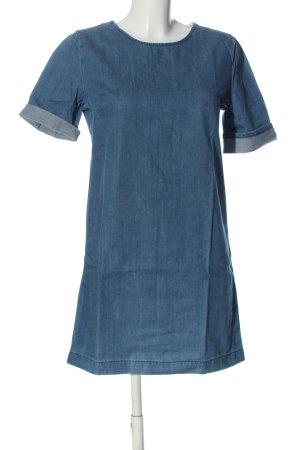 free heart Denim Dress blue casual look