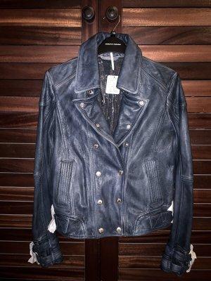 Free People Avis Leather Jacket Lederjacke Jacke Bikerjacke Biker Moto grunge blazer bomber
