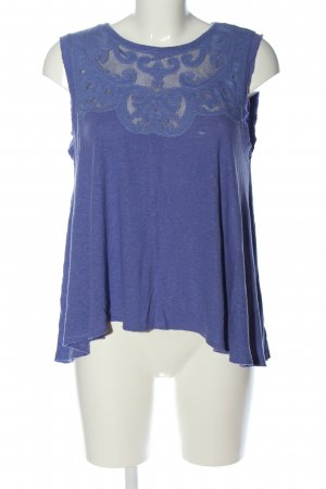 Free People Basic Top blue flecked casual look