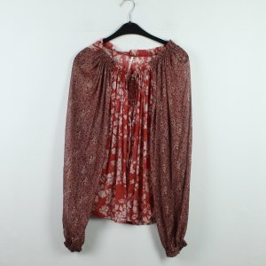 FREE PEOPLE Bluse Gr. S rot Blumenmuster (20/01/102)