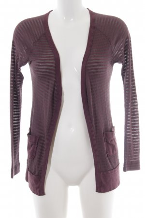 Free People Cardigan braunviolett Streifenmuster Casual-Look
