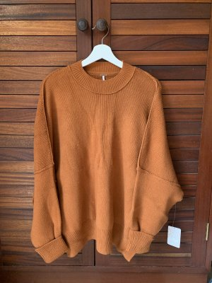Free People Oversized Sweater cognac-coloured-brown