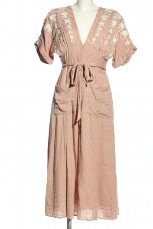 Free People Robe chemise rose chair style décontracté
