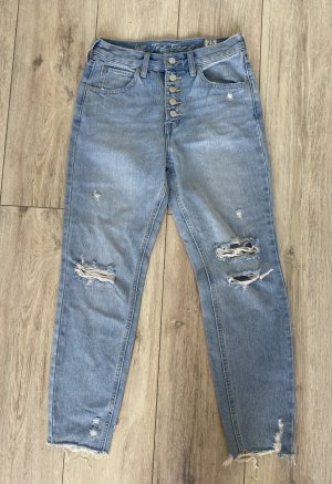 Free People Jeans taille haute multicolore coton