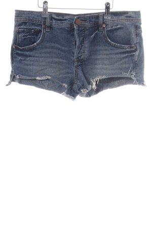 Free People Hot Pants blau Casual-Look