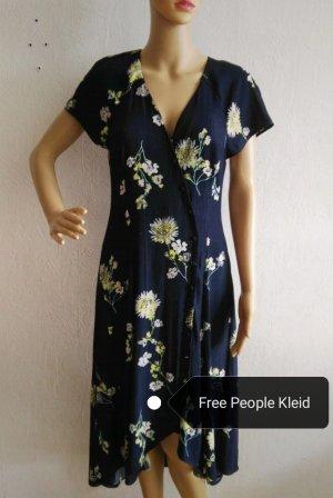Free People High Low Dress yellow-dark blue