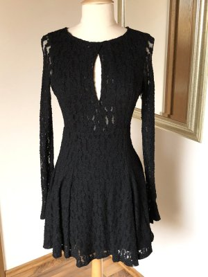 Free People Abito in pizzo nero