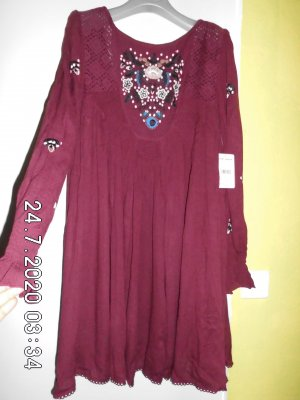 Free People Hippie Dress bordeaux