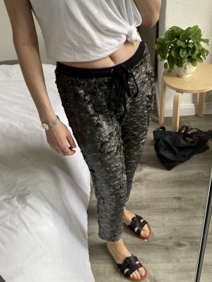 Free People Sweat Pants black-silver-colored