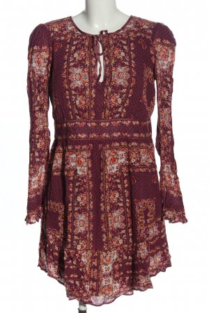 Free People Langarmkleid Allover-Druck Casual-Look