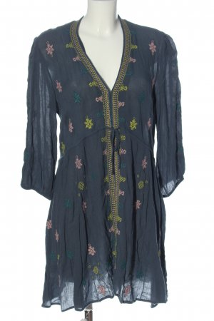 Free People Longsleeve Dress embroidered lettering casual look