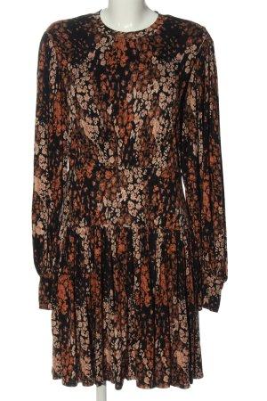 Free People Sukienka z długim rękawem czarny-jasny pomarańczowy Elegancki