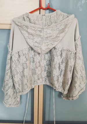 Free People Blouse Jacket natural white