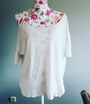 Free People Oversized Shirt natural white-oatmeal