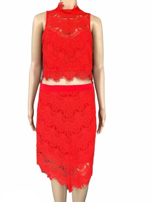 Free People Asymmetrische rok rood Nylon