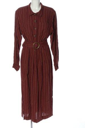 Free People Midi Dress brown-nude striped pattern casual look