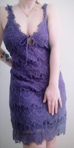 Free People Vestido de encaje lila-violeta grisáceo