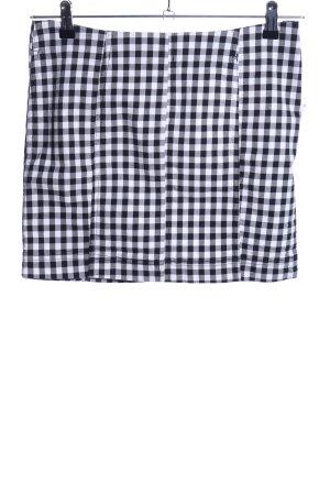 Free People Spódnica mini biały-czarny Wzór w kratkę Elegancki
