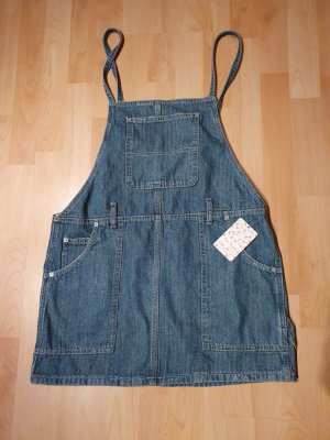 Free People Pinafore Overall Skirt azure-cornflower blue