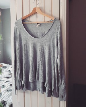 Free People Top extra-large gris clair-gris