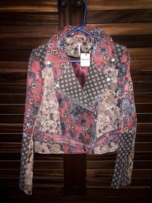 Free People Prairie Rose Lederjacke Jacke Leatherjacket Biker Moto grunge vintage floral bohemian