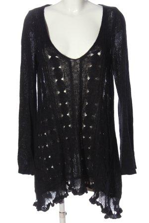 Free People Swetrowa sukienka czarny W stylu casual