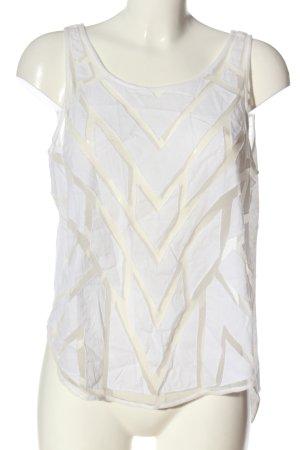 Free People Camisa de mujer blanco estampado con diseño abstracto elegante