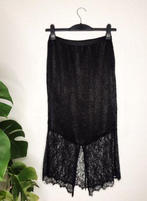 Free People Silk Skirt black