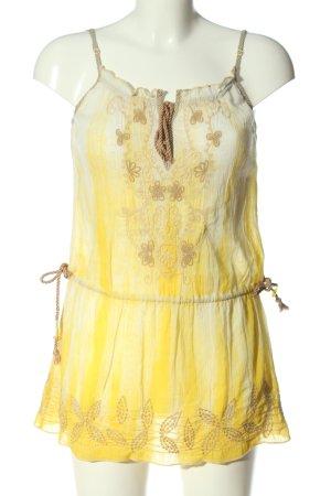 Free People Robe d'été jaune primevère-blanc cassé gradient de couleur